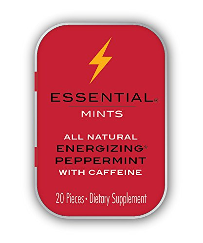 VitaThinQ, Essential Mints, Energizing Peppermints with Caffeine All Natural, Gluten Free, HFCS Free, Non GMO, Vegan, Energy Supplements, Eighty Mints