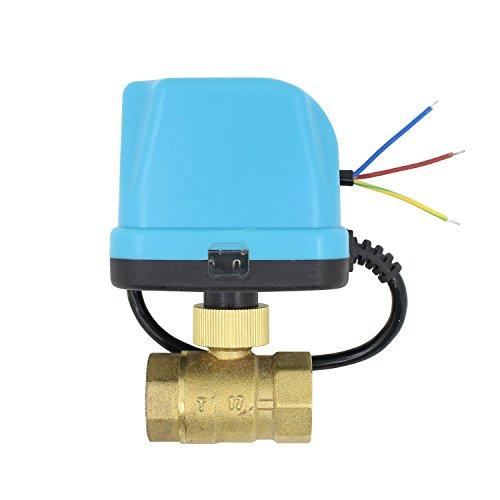 2 wege motorkugelhahn kugelventil elektrisch 12v 24v DC 2 wege ventil elektrisch 1/2 3/4 1 1-1/4 1-1/2 2 zoll (DC 12V, 3/4 zoll DN20)