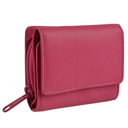 Golunski Donne Ragazze PICCOLO/S Compatto PELLE Zip borsa/portafoglio Handy - Rosa