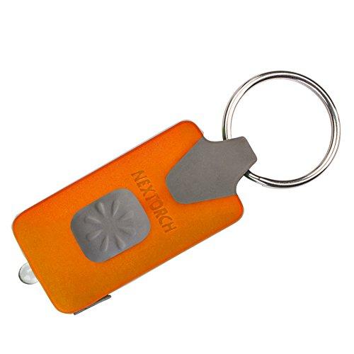 NEXTORCH GL10 Orange Porte-clé à LED Rechargeable USB-Couleur Orange