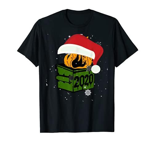 Dumpster Fire 2020, Santa Claus Christmas 2020 Camiseta