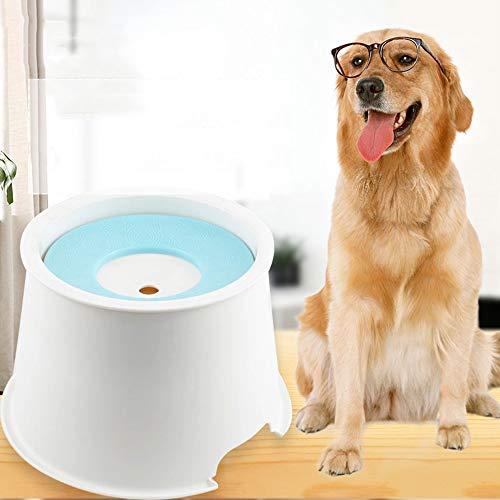 TYXL Pet Feeder Azul Boca no húmeda Recipiente de Agua Flotante Separado antivuelco Salpicadura Salpicadura dispensador de Agua Perro Mascota alimentador de Agua Cuenca ABS Aumento