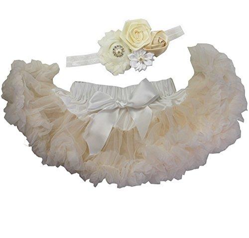 Kirei Sui Baby Pettiskirt Headband Set Cream