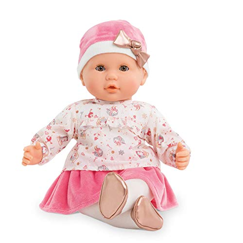 """Corolle - Mon Grand Poupon Lilly Enchanted Winter - Holiday Baby Doll, 14"""", Pink/White/Gold"""