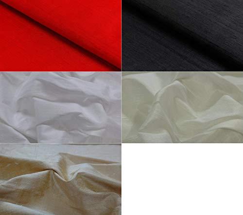 Fabrics-City ROT DUPIONSEIDE 100% SEIDE STOFF SEIDENSTOFF STOFFE METERWARE, 4274