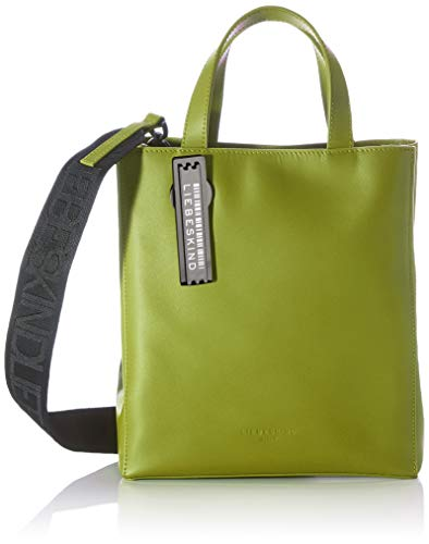 Liebeskind Berlin Damen Paper Bag Tote Shopper, Moss, Small