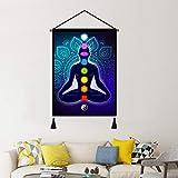 Yoga Meditation Studio Hanging Poster, Indian Seven Chakra
