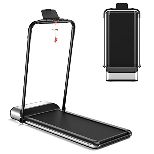GOPLUS Ultra-Thin Electric Folding Treadmill, Installation-Free Design, Low Noise Perfect for Home Use