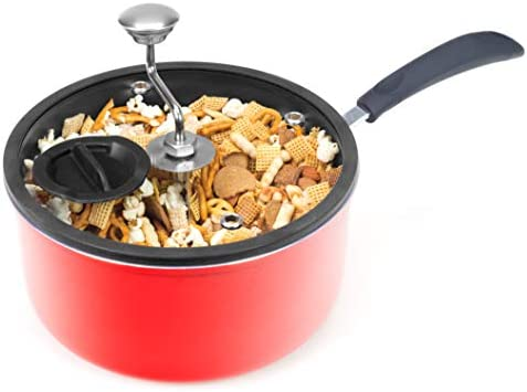 Zippy Pop Red Stovetop Popcorn Popper 5 1 2 Quart NEW 2020 Model Glass Lid with Silicone Rim product image