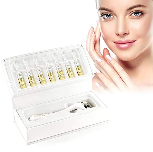 STRUZZO - Hyaluronsäure Set für Frauen   Dermaroller Edelstahl 0,5   Hautpflege Set   Gesichtspflege Set   Feuchtigkeitspflege Set   für Hautstraffung
