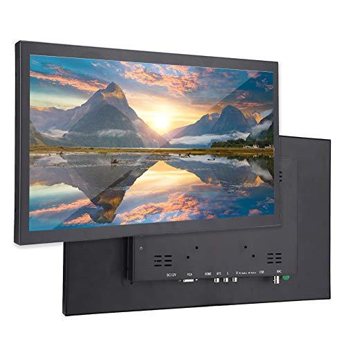 Monitor de Pantalla de 17,3 Pulgadas HD Ultra-Grande Resolución 1920x1080 Pantalla Panorámica 16: 9 Pantalla Táctil HD con Entrada HDMI/VGA/AV/BNC/USB 100-240V(EU)
