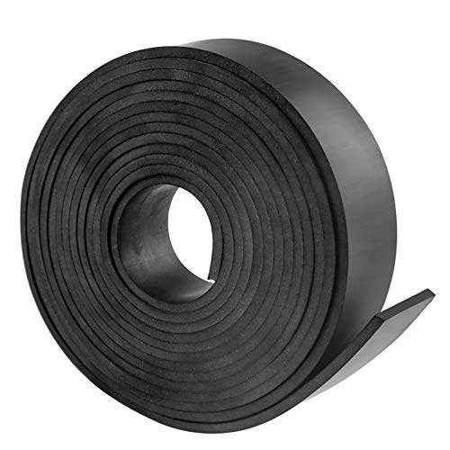 Neoprene Rubber Sheet, Solid Rubber Sheets, Rolls & Strips for DIY Gaskets, Crafts, Pads, Flooring, Protection, Supports, Leveling, Anti-Vibration, Anti-Slip (1' Wide x 1/8' Thick x 10' Long)