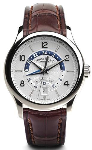 Reloj armand nicolet m02-4 a846aaa-ag-p840mr2 automático gmt orologio Uomo...