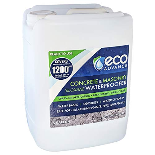Eco Advance EACON640PD 5 Gallon Concrete/Masonry Siloxane Waterproofer - Ready to Use