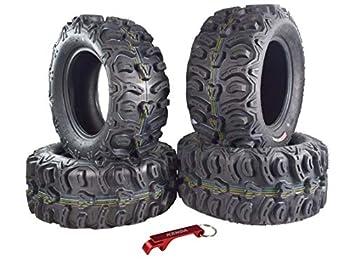 Kenda Bear Claw HTR Radial ATV/UTV Tire w/Key Chain  26  4 Set 26x9-14 26x11-14
