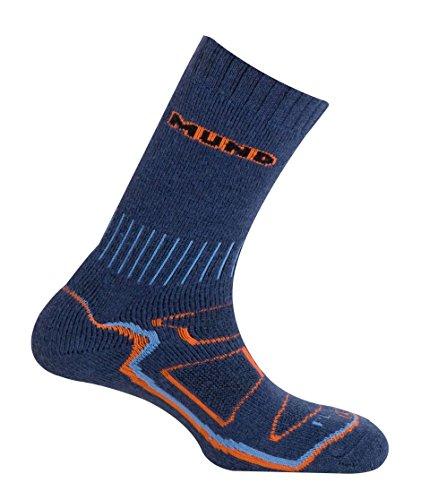 Mund Socks Calcetín Alta montaña Alpinismo Makalu Invierno Unisex (Blue, EU 42-45)