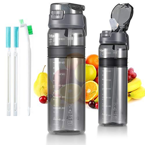 IceFrog Trinkflasche mit Strohhalm, [BPA...