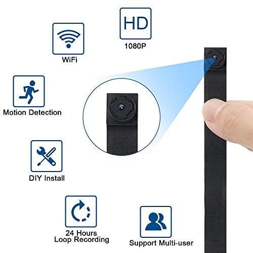 Mini Kamera WLAN, Wireless Überwachungskamera IP, 1080P HD TANGMI WiFi Klein Kameras Sicherheit Tragbare Bewegungserkennung WiFi Videokamera für Sicherheit Hause/Büro