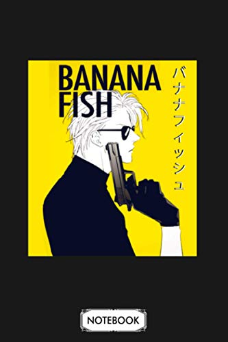 Banana Fish Ash Lynx Eiji Okumura Anime Notebook: Matte Finish Cover, Journal, Planner, 6x9 120 Pages, Lined College Ruled Paper, Diary