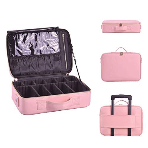 OCYE Mallette cosmétique Portable multifonctionnelle, poignée étanche et Confortable, 3 Tailles, cloison Amovible