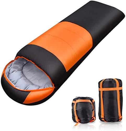 FLYTON[2020最新版]寝袋 封筒型 軽量 保温 210T防水シュラフ コンパクト アウトドア キャンプ 登山 車中泊 防災用 丸洗い可能 快適温度-5℃-25℃ 900g 1.4kg 1.8kg 春夏秋冬の使用可能