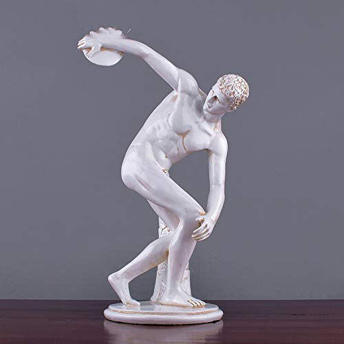 LY88 Hauptdekorationen Ornamentfiguren Geschenk Diskuswerfer Europäischer Mann Skulptur Dekoration Europäischer Stil Arbeitszimmer Wohnzimmer Athlet Home DIY