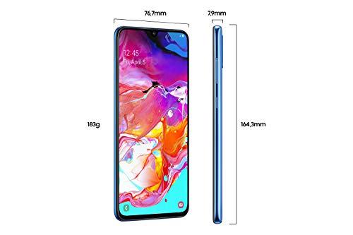 Samsung Galaxy A70 Smartphone (17.0cm (6.7 Zoll) 128GB interner Speicher, 6GB RAM, Dual SIM, Blau) - Deutsche Version