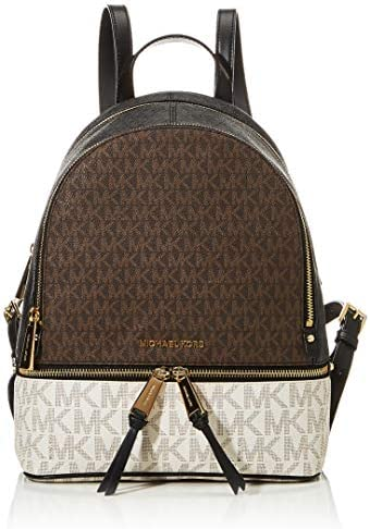 MICHAEL Michael Kors Rhea Zip Medium Backpack Brown Multi One Size product image