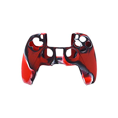 Camuflaje silicona cubierta protectora caso piel para PS-5 controlador Gamepad juego accesorios