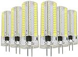 EMGQ Bombilla de Ahorro de energía Bulbos LED Lámpara de Silicona LED de Ahorro de energía 6PCS G4 7W AC 220-240V 152LEDS SMD 3014 (Color : Cold White)