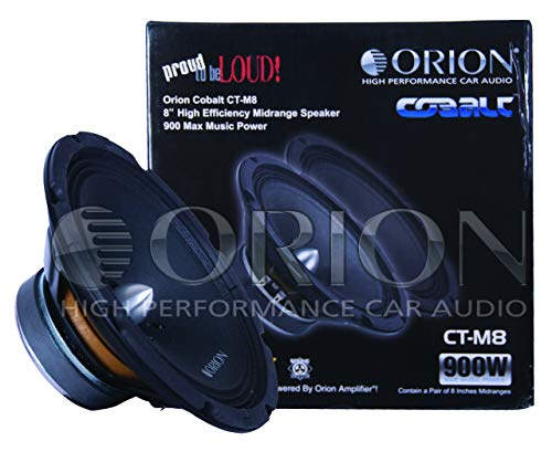 "Orion Cobalt 8"" Midrange 900 Watts Pair Packed, blk"