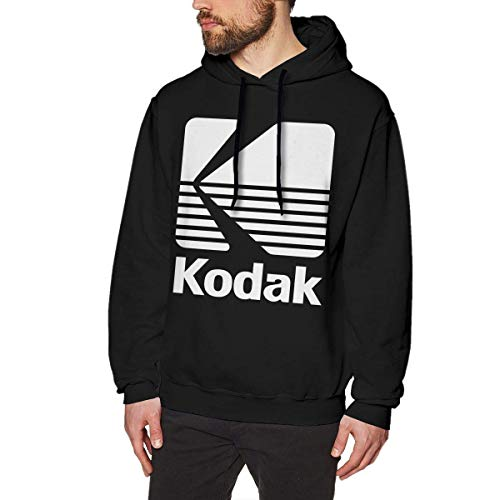SHUNFAN Herren Kapuzenpullover, Hooded Sweat, Kodak Black Logo Mens Long Sleeve Sweatshirts Man Hoodies Black