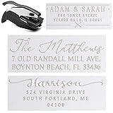 Personalized Custom Address Embosser Seal Desk Handheld Wedding Invitation Seal Embosser Personalized Customized 2' x 1' (Rectangle Embosser4)