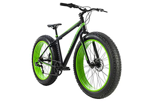 KS Cycling Mountainbike MTB Fatbike 26'' Fat-XTR Schwarz 7 Gänge RH 46 cm