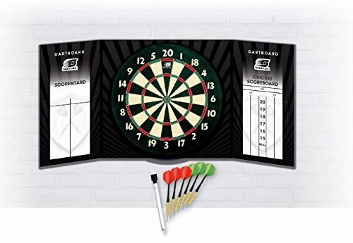 Sunflex Papier Dartscheibe Turniermaße Steel Darts mit Kabinett mit Stift