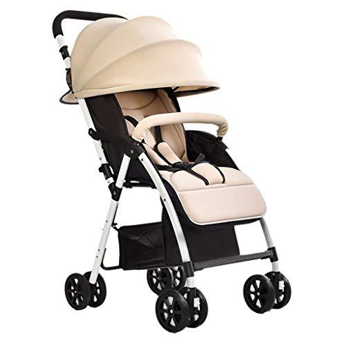 TMY Confortable Landau Simple Poussette pour bébé Peut s'asseoir Lyche Poussettes landaus Ultra léger Pliage Chariots pour Enfants Baby Umbrella Poussettes Buggies