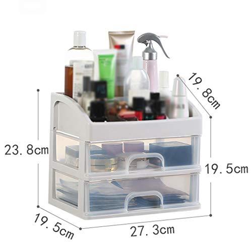 KKY-ENTER Boîte de rangement cosmétique transparente en plastique Simple à tiroir multicouche Type Rouge à lèvres Bijoux Produits de soin de la peau Boîte de stockage Affichage