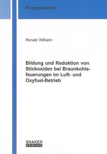 Bildung und Reduktion von Stickoxiden bei Braunkohlefeuerungen im Luft- und Oxyfuel-Betrieb (Berichte aus der Energietechnik)