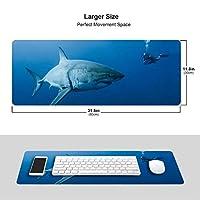 鮫と人 マウスパッド キーボードパッド 滑らかマウスパッド ゲーミングパッド 大型 オフィス 家庭用