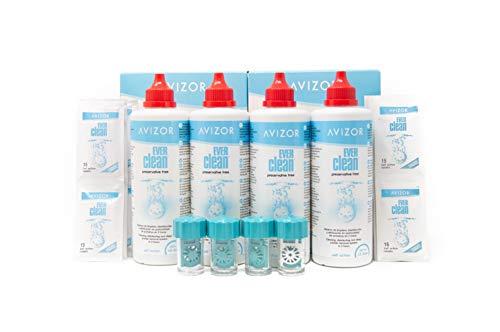 EverClean Avizor Pack 4 botes de 350 ml Peroxido Lentillas