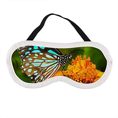 Blauwe vlinder vliegen in de ochtend natuur slaap oog masker slapen maskers blinddoek katoen oog kussen zacht voor vrouwen mannen reizen Naps gepersonaliseerd