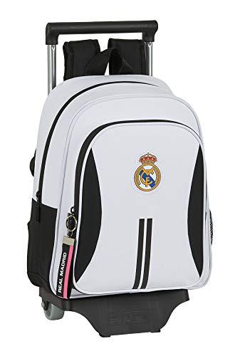 Safta 612054020 Mochila pequeña ruedas  carro  trolley Real Madrid CF