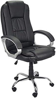 Cadeira Presidente Poltrona Escritório Giratória Couro Braço Cromado CPE002 TRATO