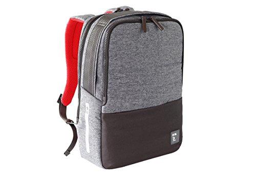 NAVA Zaino Porta PC e Porta Tablet Colore Grigio/Rosso