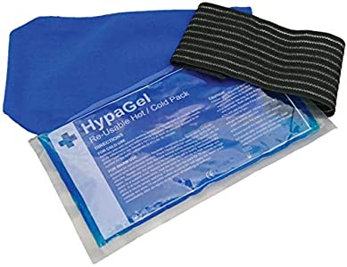 Paquete de terapia HypaGel con compresas de gel frío y caliente y brazalete de compresión