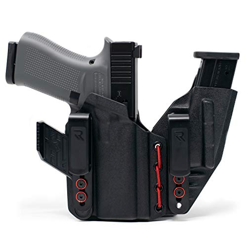 Radial Innovations Coreflex Appendix Holster (AWIB): Fits Glock 43x: Black/Blood Red   Right Hand, Concealed Carry Holster