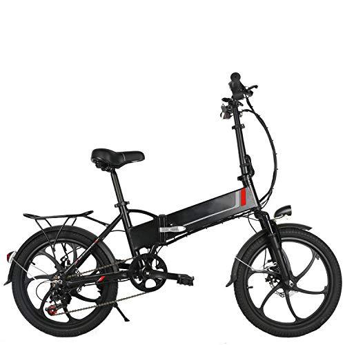 KNFBOK e Bike klapprad 20-Zoll-Elektro-Fahrrad Lithium-Batterie Mini-Faltrad LCD-Instrument mit USB-Handyhalterung Remote-Alarmanlage Weiß