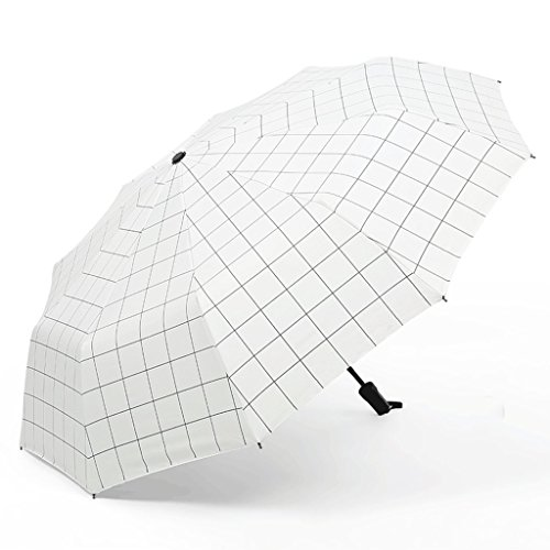 Parasol à carreaux simple 8 os automatique parapluie unisexe protection contre le soleil parapluie de pluie jour ensoleillé ( Color : B )