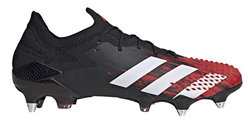 adidas Predator Mutator 20.1 L Soft Ground, Men's Football Shoe, Cblack Ftwwht Actred, 8 UK (42 EU)