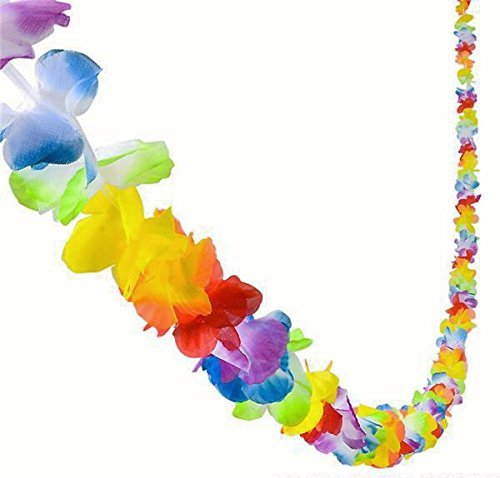 GIFTEXPRESS 36 feet Jumbo Plastic Flower Lei Garland/ Hawaiian Floral Border/ Luau Party Flower Garland/Hawaiian Party Garland/Luau Party Decoration